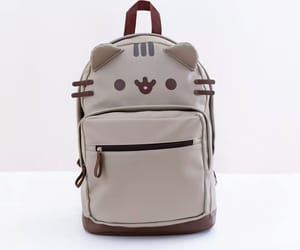 backpack, mochila, and pusheen image