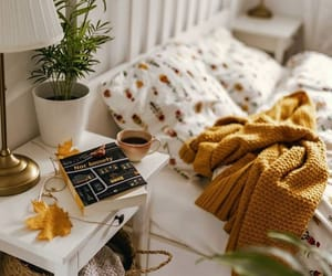 bedroom, coffee, and enjoy image