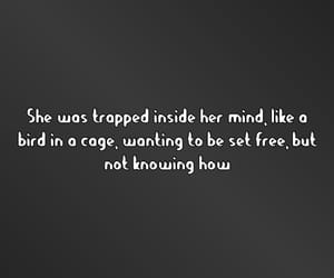 bird, cage, and depression image