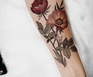flores, tatto, and tatuajes image