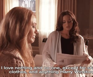 blair waldorf, serena, and words image