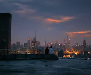 city, couple, and sky image