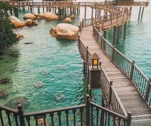bridge, hut, and nature image