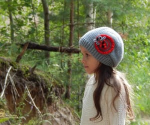 beanie, knit hat, and kids fashion image