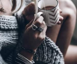 coffee, girl, and girly image