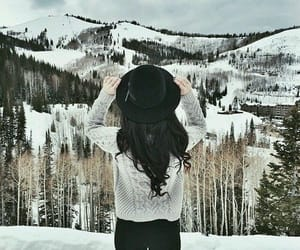 cold, hat, and fashion image