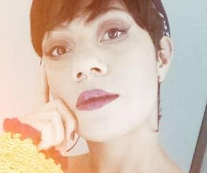 makeup, shorthair, and selfie image