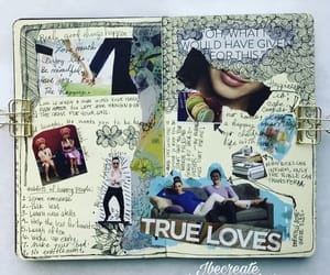 art journal, Collage, and happy image