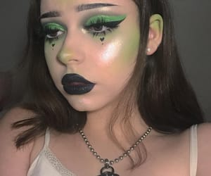 cyber, goth, and green image