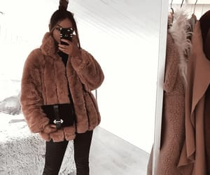 classy, fur coat, and outfit inspo image