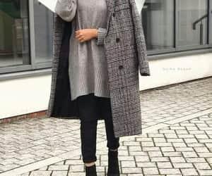 hijab, girl, and grey image