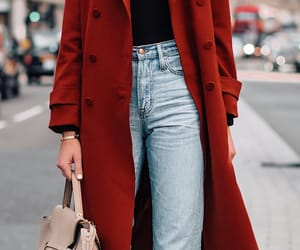 coat, denim, and jeans image