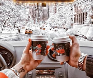 cafe, coffee, and neige image