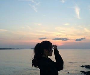 beach, sky, and asian image
