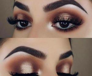 eyebrows, ojos, and makeup image