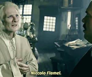 gif, crimes of grindelwald, and nicolas flamel image
