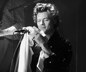 gif, black and white, and Harry Styles image