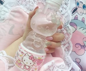 pink, hello kitty, and water image