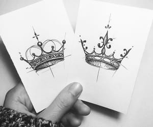 black and white, design, and Queen image