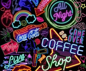 neon, quotes, and wallpaper image