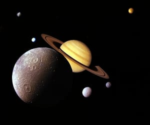 galaxy, planets, and space image