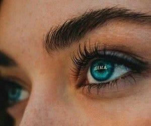 eyes, blue, and beauty image