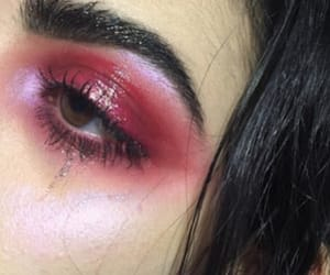 makeup, red, and eyeshadow image