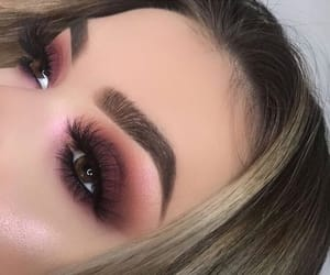 eyebrows, makeup, and sunset image