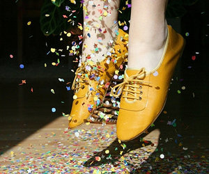 shoes, photography, and yellow image