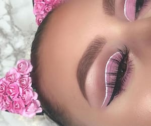 brown, eyebrow, and eyelashes image