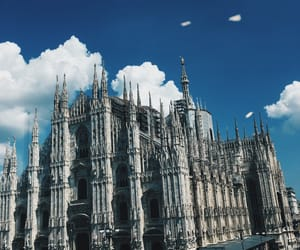 art, blue, and duomo image