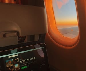 travel, aesthetic, and airplane image