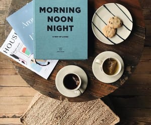 book, breakfast, and cafe image
