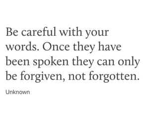 forgotten, words, and quote image