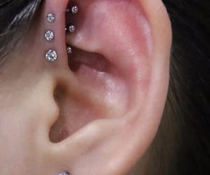 ear, piercing, and forward helix image