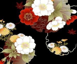 japanese, pattern, and flower image