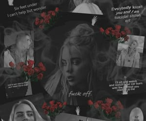 black, wallpaper, and billie eilish image