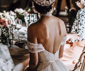 dress, wedding, and style image