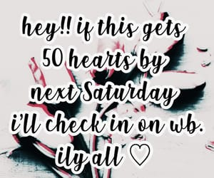 wishbone, check in, and 50 hearts image