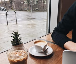 coffee, aesthetic, and rain image