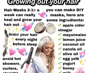girl, hair, and mine image