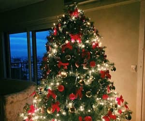 christmas tree, christmas, and christmas lights image
