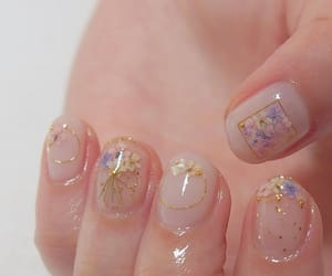 aesthetic, korean, and nails image