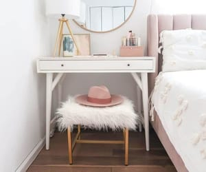 bed, decor, and fur image