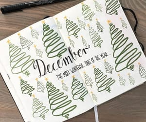 christmas, december, and planner image