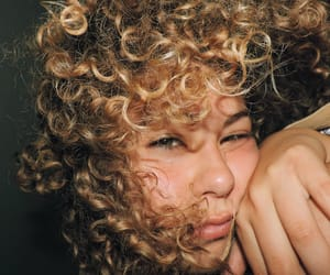 blonde, boo, and curly hair image