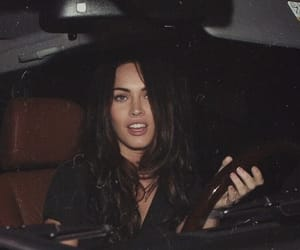 megan fox, black and white, and car image