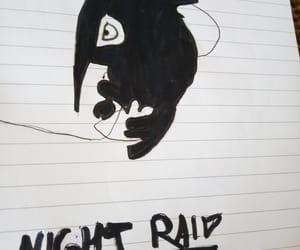 anime, drawing, and night raid image