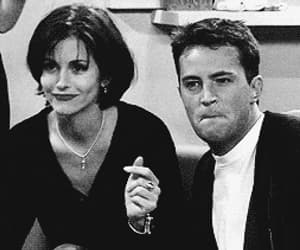 chandler bing, courtney cox, and monica geller image