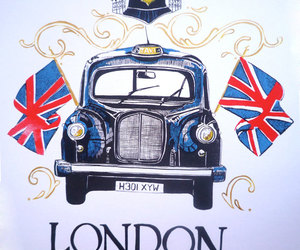 london, taxi, and uk image